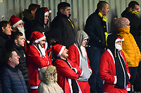 Burton Albion fans in Santa suits look on<br /> <br /> Photographer Richard Martin-Roberts/CameraSport<br /> <br /> The EFL Sky Bet League One - Saturday 15th December 2018 - Fleetwood Town v Burton Albion - Highbury Stadium - Fleetwood<br /> <br /> World Copyright &not;&copy; 2018 CameraSport. All rights reserved. 43 Linden Ave. Countesthorpe. Leicester. England. LE8 5PG - Tel: +44 (0) 116 277 4147 - admin@camerasport.com - www.camerasport.com