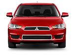 Straight front view of a 2012 Mitsubishi Lancer SE