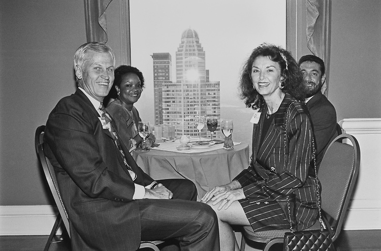 Rep. Charles Stenholm, D-Tex., and wife Cynthia Ann Watson on July 13, 1992. (Photo by Laura Patterson/CQ Roll Call)