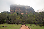 Rock palace and water gardens at Sigiriya, Central Province, Sri Lanka, Asia