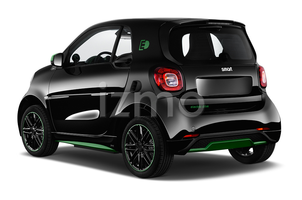 Car pictures of rear three quarter view of a 2018 Smart fortwo Greenflash 3 Door Hatchback angular rear