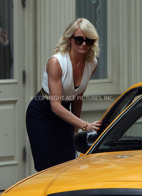 WWW.ACEPIXS.COM....May 6 2013, New York City....Actress Cameron Diaz on the Soho set of the new movie 'The Other Woman' on May 6 2013 in New York City......By Line: Zelig Shaul/ACE Pictures......ACE Pictures, Inc...tel: 646 769 0430..Email: info@acepixs.com..www.acepixs.com