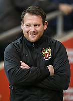 Stevenage manager Darren Sarll <br /> <br /> Photographer Alex Dodd/CameraSport<br /> <br /> The EFL Sky Bet League Two - Blackpool v Stevenage - Tuesday 14th March 2017 - Bloomfield Road - Blackpool<br /> <br /> World Copyright &copy; 2017 CameraSport. All rights reserved. 43 Linden Ave. Countesthorpe. Leicester. England. LE8 5PG - Tel: +44 (0) 116 277 4147 - admin@camerasport.com - www.camerasport.com