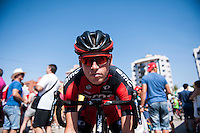 Castellon, SPAIN - SEPTEMBER 7: BMC biker during LA Vuelta 2016 on September 7, 2016 in Castellon, Spain
