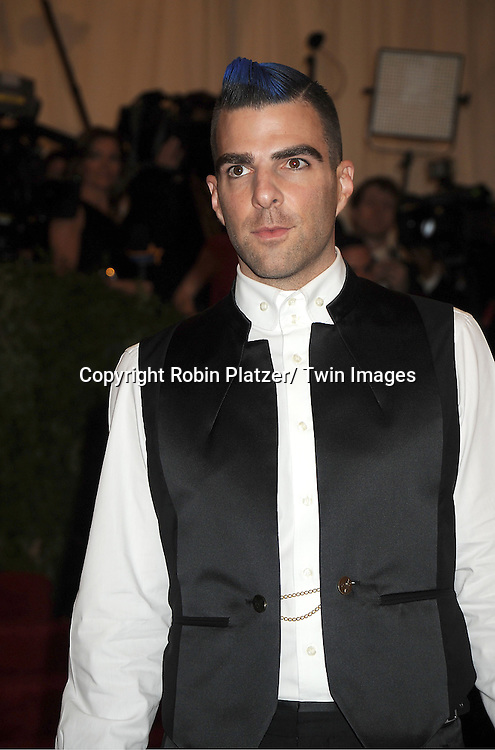 Zachary Quinto attends  the Metropolitan Museum of Art Costume Institute Beneift celebrating the opening of  PUNK: Chaos .to Couture on May 6, 2013 in New York City.