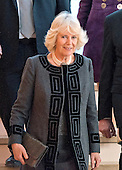 Camilla, the Duchess of Cornwall, wife of Britain's Prince Charles, departs following a visit to the Shakespeare Theatre Company at Sidney Harman Hall in Washington, D.C. on Wednesday, March 18, 2015. <br /> Credit: Ron Sachs / CNP