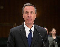 """Arne M. Sorenson, President and Chief Executive Officer, Marriott International, Inc. waits to give testimony before the United States Senate Committee on Homeland Security and Governmental Affairs Permanent Subcommittee on Investigations during a hearing on """"Examining Private Sector Data Breaches"""" on Capitol Hill in Washington, DC on Thursday, March 7, 2019.<br /> Credit: Ron Sachs / CNP/AdMedia"""
