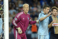 Sporting KC goalkeeper Jimmy Nielsen..Sporting Kansas City defeated Philadelphia Union 2-1 at LIVESTRONG Sporting Park, Kansas City, KS.