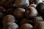 Indigenous artwork displayed at a artisan fair in Benjamin Constant in Brazil's Amazon region.