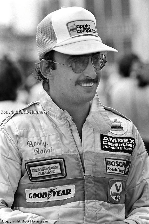 WATKINS GLEN, NY - JULY 5: Bobby Rahal in the pit lane before practice for the Six Hours of Watkins Glen on July 5, 1980, at Watkins Glen International near Watkins Glen, New York.