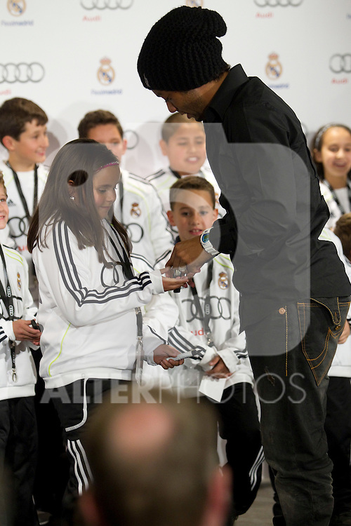 MADRID (08/11/2010).- Real Madrid players recieve new cars from Audi, team Sponsor. Marcelo...Photo: Cesar Cebolla / ALFAQUI