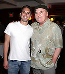 Thomas Sadoski & Stacy Keach.attending the celebration for Jon Robin Baitz receiving a Caricature on Sardi's Hall of Fame in New York City on 5/31/2012