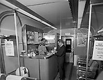 Pittsburgh PA - Inside view of the new PA Railroad Passenger Club Car - 1964