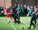 21/10/18<br /> <br /> Attempting to defy gravity on their broomsticks wizards and witches from the Slytherin and Gryffindor teams battle for glory the inaugural match of Quidditch held in Wirksworth, Derbyshire. Thousands dressed as characters from the Harry Potter books flocked to the town to celebrate Wirksworth Wizarding Day. The match was won by Slytherin after the visiting team twice caught the Golden Snitch.<br /> <br /> <br /> All Rights Reserved, F Stop Press Ltd. (0)1335 344240 +44 (0)7765 242650  www.fstoppress.com rod@fstoppress.com
