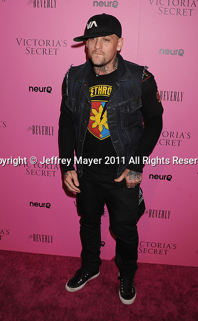 "LOS ANGELES, CA - MAY 12: Benji Madden arrives to the Victoria's Secret 6th Annual ""What Is Sexy? List: Bombshell Summer Edition"" Pink Carpet Event at The Beverly on May 12, 2011 in Los Angeles, California."