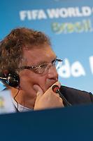 RIO DE JANEIRO, RJ, 27.03.2014 - Jérôme Valcke, secretário-geral da FIFA, participa da entrevista coletiva posterior à reunião do COL no Estádio do Maracanã. (Foto. Néstor J. Beremblum / Brazil Photo Press)