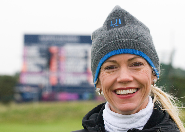 ALFRED DUNHILL LINKS CHAMPIONSHIP, ST.ANDREWS..LISA O'HURLEY AT CARNOUSTIE..9-10-2010 PIC BY IAN MCILGORM