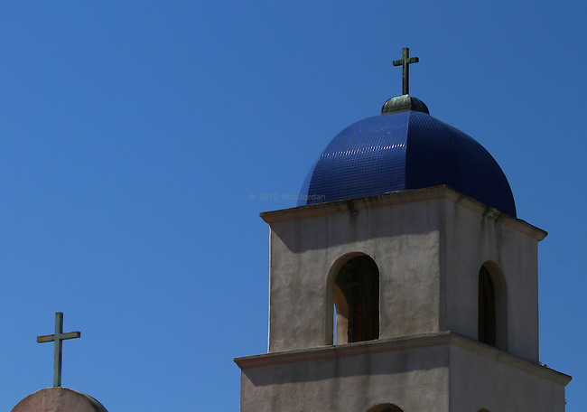 Mission Style bell tower in old town San Diego.