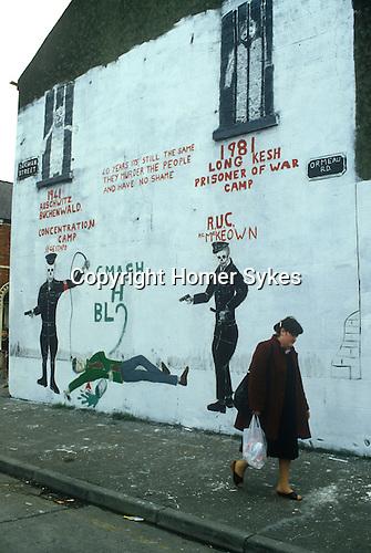 Belfast Northern Ireland. Long Kesh Catholic  wall painting. 1981 1980s