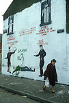 Belfast Northern Ireland. Long Kesh Catholic  wall painting. 1981 1980s