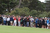 Gary Woodland (USA) on the 10th fairway during the First Round - Four Ball of the Presidents Cup 2019, Royal Melbourne Golf Club, Melbourne, Victoria, Australia. 12/12/2019.<br /> Picture Thos Caffrey / Golffile.ie<br /> <br /> All photo usage must carry mandatory copyright credit (© Golffile | Thos Caffrey)