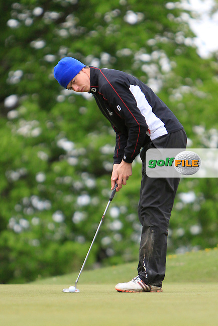 S. Carter (Stackstown) on the 4th green during the Mullingar Scratch Trophy Day 1at Mullingar Golf Club Belvedere 18th May 2013.Picture: Thos Caffrey www.golffile.ie...