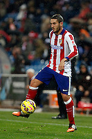 Koke of Atletico de Madrid during La Liga match between Atletico de Madrid and Villarreal at Vicente Calderon stadium in Madrid, Spain. December 14, 2014. (ALTERPHOTOS/Caro Marin) /NortePhoto