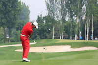 Ashun Wu (CHN) in action during the final round of the Volvo China Open played at Topwin Golf and Country Club, Huairou, Beijing, China 26-29 April 2018.<br /> 29/04/2018.<br /> Picture: Golffile | Phil Inglis<br /> <br /> <br /> All photo usage must carry mandatory copyright credit (&copy; Golffile | Phil Inglis)