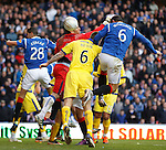Lee McCulloch heads into the net but Iain Brines chalks off the goal
