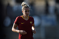 Emma Lipman of AS Roma reacts during the Women Italy cup round of 8 second leg match between AS Roma and Roma Calcio Femminile at stadio delle tre fontane, Roma, February 20, 2019 <br /> Foto Andrea Staccioli / Insidefoto