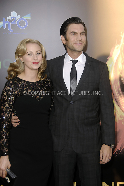WWW.ACEPIXS.COM . . . . .  ....March 12 2012, LA....Actor Wes Bentley and his wife Jennifer Quanz arrive arriving at the premiere of 'The Hunger Games' at Nokia Theatre L.A. Live on March 12, 2012 in Los Angeles, California.....Please byline: PETER WEST - ACE PICTURES.... *** ***..Ace Pictures, Inc:  ..Philip Vaughan (212) 243-8787 or (646) 769 0430..e-mail: info@acepixs.com..web: http://www.acepixs.com