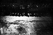 15.04.2010 Warsaw, Poland..People wait in line to pay tribute to Poland's late President Lech Kaczynski and his wife Maria at the front of the presidential palace in Warsaw April 15, 2010.Photo: Maciej Jeziorek/Napo Images..15.04.2010 Warszawa, Polska..Krakowskie Przedmiescie. Ludzie czekajacy w kolejce na mozliwosc oddania holdu Prezydentowi i jego malzonce przed ich trumnami wystawionymi w Palacu Prezydenckim..fot. Maciej Jeziorek/Napo Images.