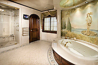 "Botticelli's ""Birth of Venus"" Mural in Master Bathroom"
