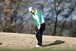 BROWNS SUMMIT, NC - APRIL 02: Notre Dame's Jordan Ferreira chips on the 15th hole. The third round of the Bryan National Collegiate Women's Golf Tournament was held on April 2, 2017, at the Bryan Park Champions Course in Browns Summit, NC.