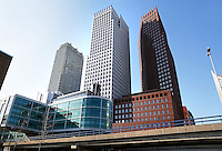 Hoogbouw in Den Haag. Het Rijkskantoor aan de Turfmarkt. Hoofdgebruikers zijn de ministeries van Veiligheid & Justitie  en  Binnenlandse Zaken &  Koninkrijksrelaties