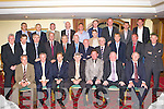 Players and officials from the Kerry 1984-86 three in a row squad who were honoured by the Kerry County board in the Plaza Hotel Killarney on Friday night front row l-r: Tommy Dowd, Mikey Sheehy, Tommy Doyle, Mick O'Dwyer, Ambrose O'Donovan, Jerome Conway Kerry County Board Chairman, ______. Second row: Pat Spillane, Willie Maher, ______, Jack O'Shea, Ger Power, Charlie Nelligan, Eddie Tatler O'Sullivan, Dermot Hannafin, ______, Ger Lynch, _____, Mick Spillane. Back row: Stephen Stack, Mickey Ned O'Sullivan, Willie Dom O'Connor, John Higgins, Tom Lynch, _____, Mick Galwey,Diarmuid O'Donoghue and Tom Spillane...
