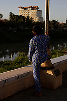 Battambang - Cambodia - June 2020<br />  - Riverside in early morning.