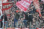 14.01.2018, RheinEnergieStadion, Koeln, GER, 1.FBL., 1. FC K&ouml;ln vs. Borussia M&ouml;nchengladbach<br /> <br /> im Bild / picture shows: <br /> Fans, freundlich, Stimmung, farbenfroh, Nationalfarbe, geschminkt, Emotionen, k&ouml;lner Ultras <br /> <br /> <br /> Foto &copy; nordphoto / Meuter