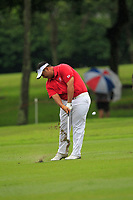 Kiradech Aphibarnrat (Asia) on the 8th fairway during the Friday Foursomes of the Eurasia Cup at Glenmarie Golf and Country Club on the 12th January 2018.<br /> Picture:  Thos Caffrey / www.golffile.ie