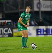 4th November 2017, Galway Sportsground, Galway, Ireland; Guinness Pro14 rugby, Connacht versus Cheetahs; Craig Ronaldson lines up a kick for Connacht