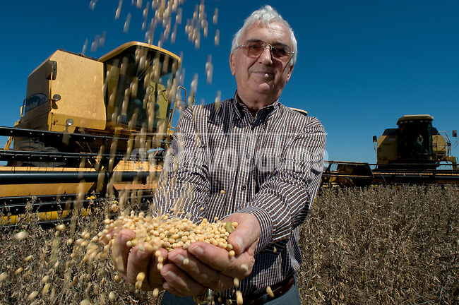 Tranquilo Favero, owner of Favero Group and the richest man in Paraguay, in one of his farms in Caagauzu, near the border with Brazil. Favero born in Brazil and migrated to Paraguay where he now owns thousands of acres and is the largest soy and cattle producer.