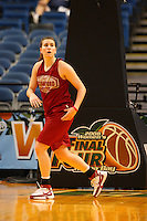 5 April 2008: Stanford Cardinal Jeanette Pohlen during Stanford's 2008 NCAA Division I Women's Basketball Final Four open practice at the St. Pete Times Forum Arena in Tampa Bay, FL.