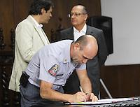 SAO PAULO, SP, 18 MARCO 2013 - ASSINATURA CONVENIO ATIVIDADE  DELEGADA -  O Benedito Meira participa da assinatura do convenio de atividade delegada, um convenio que acrescenta novas atribuicoes a parceria da atividade delegada, firmada em 2009 pelo Governo do Estado e a  Prefeitura de SP  no palacio Bandeirantes nessa segunda 18. (FOTO: LEVY RIBEIRO / BRAZIL PHOTO PRESS)