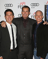 "17 November 2016 -  Hollywood, California - Dylan Clark, Scott Stuber, Hutch Parker. AFI FEST 2016 - Closing Gala - Premiere Of ""Patriot's Day"" held at The TCL Chinese Theatre. Photo Credit: AdMedia"