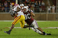 4 November 2006: Erik Lorig during Stanford's 42-0 loss to USC at Stanford Stadium in Stanford, CA.
