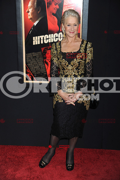 NEW YORK, NY - NOVEMBER 18: Helen Mirren at the 'Hitchcock' New York Premiere at Ziegfeld Theatre on November 18, 2012 in New York City. Credit: mpi01/MediaPunch inc. NortePhoto