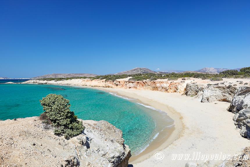 Hawaii Beach of Alyko Peninsula in Naxos island, Greece
