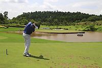 Jose Manuel Lara (ESP) tees off on the par3 17th tee during Sundays Final Round 3 of the 54 hole Iskandar Johor Open 2011 at the Horizon Hills Golf Resort Johor, Malaysia, 19th November 2011 (Photo Eoin Clarke/www.golffile.ie)