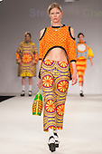 Collection by Stephanie Chesworth from UCLAN, University of Central Lancashire. Graduate Fashion Week 2014, Runway Show at the Old Truman Brewery in London, United Kingdom. Photo credit: Bettina Strenske