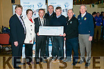 The Launch of the Kerry County League 2016 sponsored by Chapter 23 of Credit Unions on Monday at the Austin Stack Park Pavilion. Pictured l-r Donal Cremin,  Rathmore CU, Mary O'Shea, Milltown, Chapter 23, John Long, Chapter 23,  Jack Harrington Clanmaurice, Chapter 23, Dermot Lynch, Treasurer Kerry County Board, Diarmuid O'Sé (Vice Charman, Kerry County Board) and Christy Killeen, Kerry County Board and Chapter 23 of Credit Unions